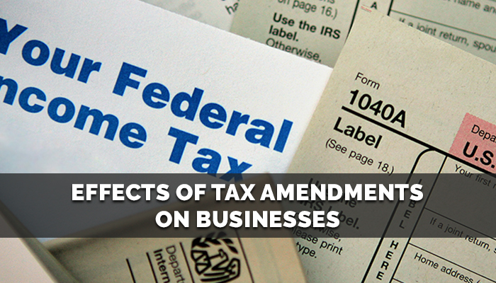 Effects of Tax Amendments on Businesses